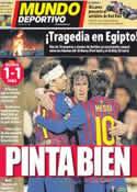 Portada Mundo Deportivo del 2 de Febrero de 2012