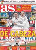 Portada diario AS del 5 de Febrero de 2012