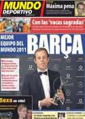 Portada Mundo Deportivo del 7 de Febrero de 2012