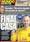 Portada Mundo Deportivo del 8 de Febrero de 2012