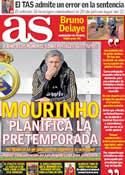 Portada diario AS del 10 de Febrero de 2012