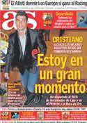 Portada diario AS del 11 de Febrero de 2012