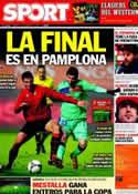 Portada diario Sport del 11 de Febrero de 2012