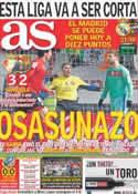 Portada diario AS del 12 de Febrero de 2012