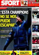 Portada diario Sport del 13 de Febrero de 2012