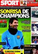 Portada diario Sport del 14 de Febrero de 2012