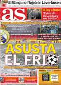 Portada diario AS del 15 de Febrero de 2012
