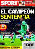 Portada diario Sport del 15 de Febrero de 2012