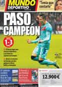 Portada Mundo Deportivo del 15 de Febrero de 2012
