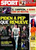 Portada diario Sport del 17 de Febrero de 2012