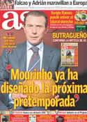 Portada diario AS del 18 de Febrero de 2012