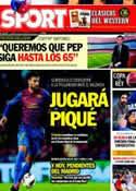Portada diario Sport del 18 de Febrero de 2012