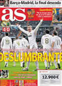 Portada diario AS del 19 de Febrero de 2012