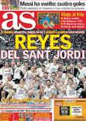 Portada diario AS del 20 de Febrero de 2012