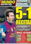 Portada Mundo Deportivo del 20 de Febrero de 2012