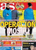 Portada diario AS del 21 de Febrero de 2012