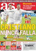 Portada diario AS del 22 de Febrero de 2012