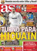 Portada diario AS del 23 de Febrero de 2012
