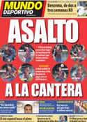 Portada Mundo Deportivo del 23 de Febrero de 2012