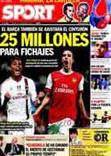 Portada diario Sport del 24 de Febrero de 2012