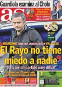 Portada diario AS del 26 de Febrero de 2012