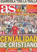 Portada diario AS del 27 de Febrero de 2012
