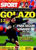 Portada diario Sport del 27 de Febrero de 2012
