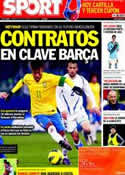 Portada diario Sport del 29 de Febrero de 2012