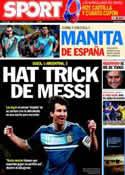 Portada diario Sport del 1 de Marzo de 2012