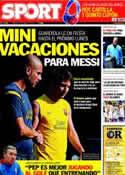 Portada diario Sport del 2 de Marzo de 2012
