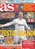 Portada diario AS del 5 de Marzo de 2012