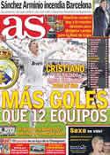 Portada diario AS del 6 de Marzo de 2012