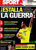 Portada diario Sport del 6 de Marzo de 2012