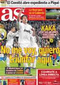Portada diario AS del 7 de Marzo de 2012