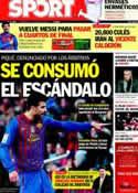 Portada diario Sport del 7 de Marzo de 2012