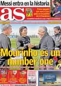 Portada diario AS del 8 de Marzo de 2012