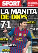 Portada diario Sport del 8 de Marzo de 2012