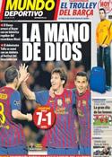 Portada Mundo Deportivo del 8 de Marzo de 2012