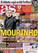 Portada diario AS del 9 de Marzo de 2012
