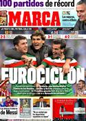 Portada diario Marca del 9 de Marzo de 2012