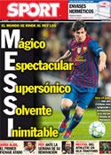 Portada diario Sport del 9 de Marzo de 2012