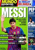 Portada Mundo Deportivo del 9 de Marzo de 2012