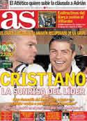 Portada diario AS del 10 de Marzo de 2012