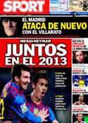 Portada diario Sport del 10 de Marzo de 2012