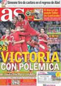 Portada diario AS del 11 de Marzo de 2012