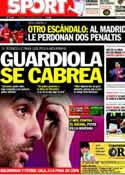 Portada diario Sport del 11 de Marzo de 2012