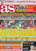 Portada diario AS del 12 de Marzo de 2012