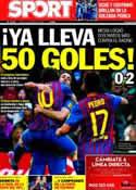 Portada diario Sport del 12 de Marzo de 2012