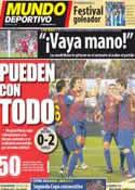 Portada Mundo Deportivo del 12 de Marzo de 2012