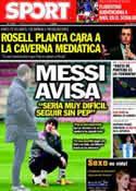 Portada diario Sport del 13 de Marzo de 2012